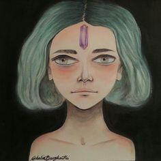 Acrylic on paper by Ghalia Barghouthi