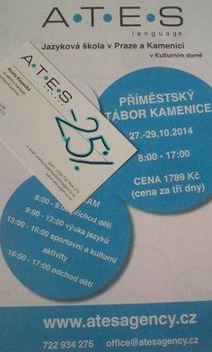 Využijte slevy 25% na tábor! Přihlaste své dítě do 22. 10. 2014 na příměstský tábor v Kamenici u Prahy od 27. do 29. října 2014. Získejte slevu 25% a zaplaťte pouze 1.339,- Kč namísto původních 1.789,- Kč.