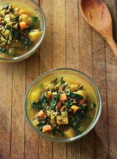 Cozy Lentil Soup with Delicata Squash