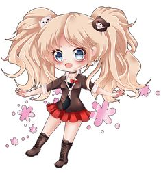 Junko Enoshima Chibi by Tish-Marie on DeviantArt Digital Art Anime, Anime Art, Danganronpa Junko, Yandere Girl, Psycho Girl, Trigger Happy Havoc, Danganronpa Characters, Anime Stickers, Anime Chibi