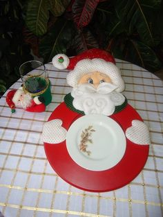 Posa platos navideños