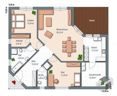 Bungalow Grundrisse Edition 126 floor_plans 0 Speaking of workplace fashions, if you want to focus m Education Architecture, Residential Architecture, Modern Architecture, Build Your House, Building A House, Architectural Design House Plans, Model Homes, House Floor Plans, House Design