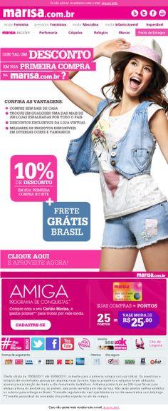 E-mail Marketing | Marisa.com.br by André Armenni, via Behance