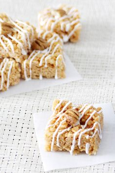 Carrot Cake Cereal Treats