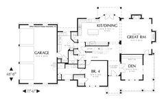 Main Floor Plan of Mascord Plan 2371 - The Masonville - Luxurious Country Living