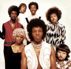 Photo of Sly STONE and Sly The Family STONE Group portrait Sly Stone front