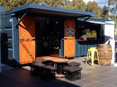 A Shipping Container Cafe or 'Pop Up Cafe' is a great way to make your business stand out. Let Port Shipping Containers show you how. Shipping Container Sheds, Shipping Container Restaurant, Converted Shipping Containers, Container Coffee Shop, Container Shop, Containers For Sale, Container Design, Pop Up Cafe, Container Conversions