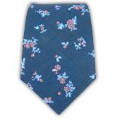 - Linen Flowers - Serene Blue Ties
