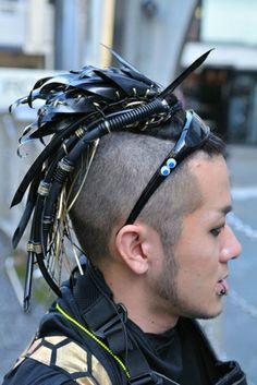 Cyberpunk, Future street style, futuristic man, cyberpunk style, hairstyle, neopunk, cyberpunk man, cybrpunk boy, street style, futuristic by FuturisticNews.com