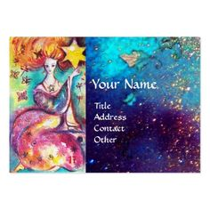 TAROTS OF THE LOST SHADOWS / THE STAR LARGE BUSINESS CARD  by Bulgan Lumini (c) #tarot #psychicreader #psychics #fineart #artist #woman