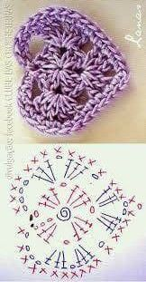 Crochet flowers 583990276665505744 - Crochet Heart Flower Valentines Ideas For 2019 Source by veroyounash Crochet Flower Patterns, Crochet Stitches Patterns, Crochet Chart, Love Crochet, Crochet Gifts, Crochet Motif, Diy Crochet, Knitting Patterns, Crochet Owls