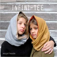 Infini-Tee scarf, hoodie made with recycled men's tee.