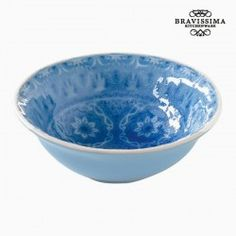 Bol Porcelaine Bleu by Bravissima Kitchen Computer Hardware, Serving Dishes, Decorative Bowls, Like4like, Tray, Tableware, Toque, Products, Dishwashers
