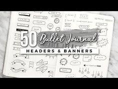 50+ Bullet Journal Header & Banner Ideas! - YouTube