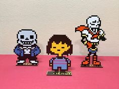 Frisk and her Undertale monster frenemies Sans & Papyrus have entered my Etsy shop!