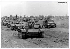 August 1942. German tanks fateful approach toward Stalingrad. All the vehicles in this picture will destroyed or captured by the end of December 1942.