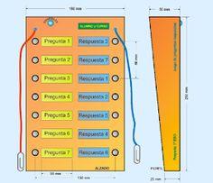 PROYECTOS DE TECNOLOGÍA: Juego de preguntas y respuestas Bar Chart, Led, Maps, Home Made Games, Question Game, Electric Circuit, Circuits, Projects