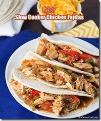Easy Slow Cooker Chicken Fajitas- 4 ingredient