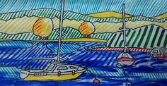 Buy Boats at Lake District., Acrylic painting by Jack  O'Hara on Artfinder. Discover thousands of other original paintings, prints, sculptures and photography from independent artists.