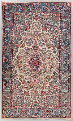 MATTA, orientalisk, Kirman, old, ca 230x140 cm.
