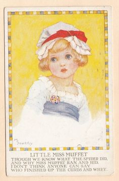 Postcard by Millicent Sowerby, ''Little Miss Muffet'' | eBay