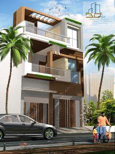 Modern Bungalow Exterior, Exterior House Siding, Modern Exterior House Designs, Facade House, Building Elevation, House Elevation, Bungalow House Design, House Front Design, 3d House Plans