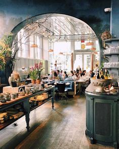 botanicaetcetera INTERIOR La Mercerie Cafe, New York Patrick Janelle from girlin… – Most Beautiful Furniture Plano Hotel, Casa Hotel, Restaurant Design, Cafe Restaurant, Restaurant Interiors, Commercial Design, Commercial Interiors, Cafe New York, Cafe Nyc