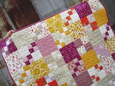 Vintage Chic Girl's Baby Quilt by StitchedInColor on Etsy, $165.00