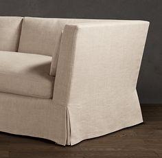 "Belgian Shelter Arm Slipcovered Sofas Dimensions Length 7'Depth Classic 37""Height: 31"""