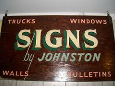 Johnston signs- Old shop sign