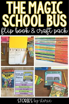 The Magic School Bus chapter book series can take your students on an adventure without leaving the classroom. This pack includes a school bus craft and a flip book that students can use to respond to the text. These are perfect for guided reading groups, book clubs, and independent reading.