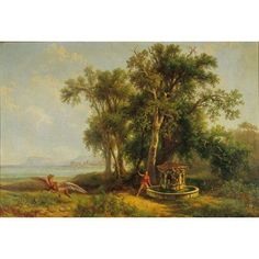 Ruggero In AlcinaS Island Canvas Art - (24 x 18)