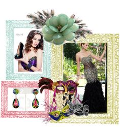 """Mardi Gras Madness Sweet 16 Theme"" by rissyroos on Polyvore"