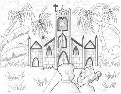 The book is finally out! This is one of the drawings that I did for the new children's book, 'From the Inside Looking Out' written by Irvine Weekes.