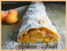 ich hab da mal was ausprobiert: Aprikosen - Strudel mit Pinienkernen und Amarettibröseln