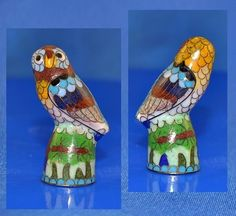Cloisonne Thimble Owl | eBay  Aug 01, 201 / GBP 16.00 / 800.53 RUB