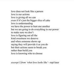"""here is a small excerpt i took out from a longer spoken word piece found on page 30 called """"what love looks like"""". What Is Love Poem, Love Poems, Poetry Quotes, Words Quotes, Wise Words, Sayings, True Quotes, Quotes Quotes, Qoutes"""