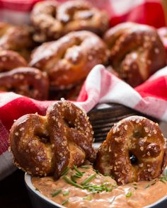 Beer Pretzels with Beer Cheese Dip