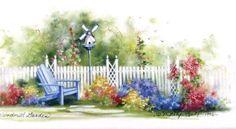 Windmill Garden by Marty Bell
