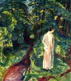 Edvard Munch - Woman in the Garden, 1926