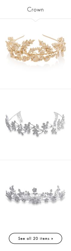 """""""Crown"""" by livstephanovichi ❤ liked on Polyvore featuring accessories, hair accessories, jewelry, headband, hair, embellished headband, head wrap headbands, hair band headband, head wrap hair accessories and pearl hair accessories"""