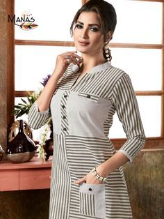 Manas Aaheli Cotton Kurtis Summer Fancy Collection In India Salwar Designs, Simple Kurti Designs, Kurta Designs Women, Kurti Designs Party Wear, Blouse Designs, Printed Kurti Designs, Stylish Dresses, Women's Fashion Dresses, Cotton Kurties