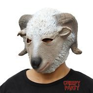 Adult Scary Halloween Costume Party Full Mask Latex Deluxe Animal Head Goat