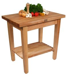 """Boos """"C"""" Country Work Table with Maple Butcher Block Top at http://butcherblockco.com"""