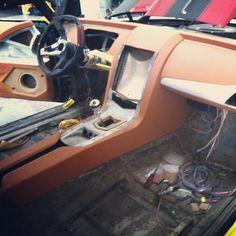 1969 camaro all custom interior and leather with an iPad as the source. 69 dash dashboard fiberglass