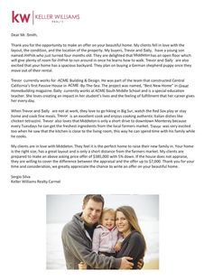adad20a94c34b6d99b5d4d0f6f0bc5a4--cover-letters-dream-homes Open Letter To Seller Of House Template on