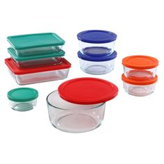 Amazon.com: Pyrex 18 Piece Simply Store Food Storage Set, Clear: Kitchen & Dining