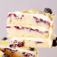 This lemon blueberry cake is the only thing you need to bake this spring Get the recipe at delish easy recipe dessert dessertrecipes cakerecipes cake lemon blueberry homemade baking Just Desserts, Delicious Desserts, Yummy Food, Easy Lemon Desserts, Baking Recipes, Cake Recipes, Dessert Recipes, Baking Desserts, Cake Baking