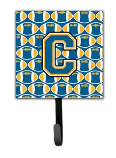 Letter C Football Blue and Gold Leash or Key Holder CJ1077-CSH4