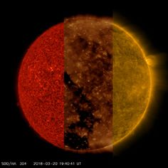 Our Sun: Three Different Wavelengths